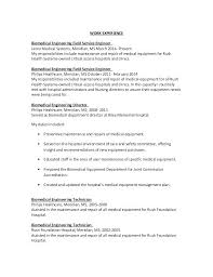 Biomedical Engineering Manager Sample Resume Adorable Example Resume Biomedical Engineer As Well As Captivating Sample