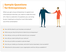 How To Conduct An Informational Interview Informational Interview Questions For Entrepreneurs Livecareer