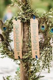 Picture Of A Greenery Wreath With A Seating Chart And