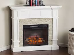 merrimack white infrared electric fireplace mantel package fi9638