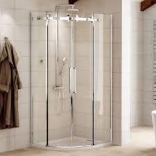 aquafloe elite ii 8mm 900 x 900 easy clean frameless sliding quadrant enclosure with shower tray