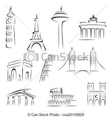 architectural drawings of famous buildings. Modren Drawings Drawn Building Famous Landmark 3 To Architectural Drawings Of Famous Buildings