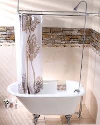 choosing a shower curtain for your clawfoot tub kingston brass