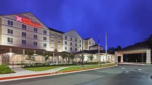 hilton garden inn west little rock hotel ar exterior at night