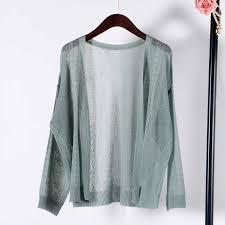 <b>Shuchan Linen</b> Cardigan Women Summer 2019 V neck Solid Thin ...
