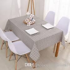new 110 110cm linen table cloth country style plaid print multifunctional rectangle table cover tablecloth home kitchen decoration linen tablecloths