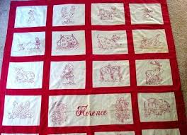 159 best Quilt Gallery: Red and White images on Pinterest ... & Items similar to FLORENCE, Vintage Redwork Embroidery Quilt Pattern, Hand  Embroidery, Redwork Patterns, Vintage Redwork Pattern on Etsy Adamdwight.com