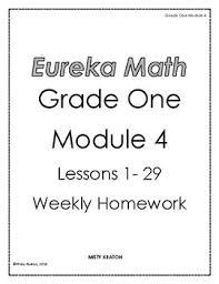 Weekly Homework Eureka Math Grade One Module 4 Weekly Homework