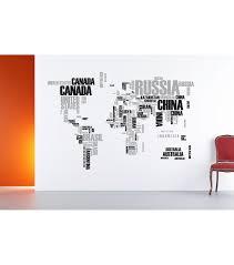 World Map Home Decor Home Decor World Map Wall Stickers 2 Piece Set Jo Ann
