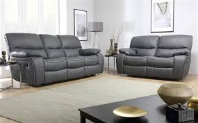 grey leather furniture. Beaumont Grey Leather Recliner Sofa 32 Seater With Furniture