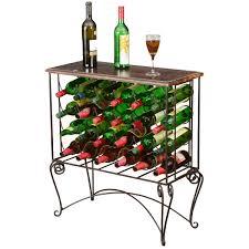 wine rack bar table. Parisian Café Mango Wood \u0026 Iron 24 Bottle Wine Rack Bar Table