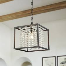 oil rubbed bronze square modern crystal chandeliers for living room