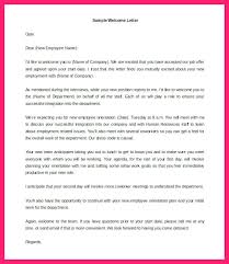 Welcome Letter Template Welcome Email For New Hire Sample Letter Template Employee