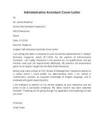 Office Administration Cover Letters Cover Letter For Office Assistant Job Faxnet1 Org