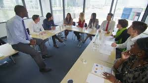 Training Seminar Attractive Mixed Ethnicity Business Team Stock Footage Video 100