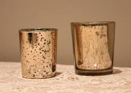 mercury glass pillar candle holders gold