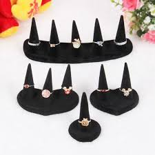 Black Velvet Jewelry Display Stands 100 Black Velvet Ring Display Stand Rack Finger Tip Jewelry 44