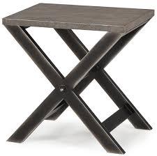 billie modern classic faux reen cross leg metal side table kathy kuo home