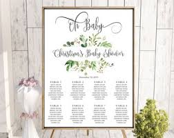 Table Seating Chart Baby Shower Baby Shower Seating Chart Oh Baby Table Plan Find Your Etsy