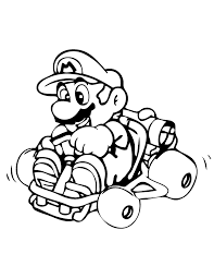 Mario Kart For Children Mario Kart Kids Coloring Pages