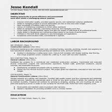 Construction Resume Sample New Laborer Resume Examples Examples Of