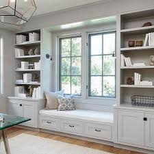 office built in furniture. Light Gray Office Built In Shelves And Cabinets Furniture T
