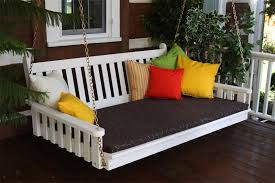 pine traditional english swing bed by dutchcrafters amish furniture patio swing converts to bed