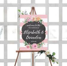Wedding Welcome Sign Printable Floral Wedding Signs Printable