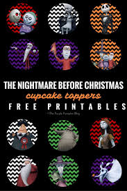Cupcake Toppers - The Nightmare Before Christmas - Free Printable ...