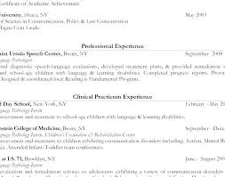 Speech Therapy Resume Adorable 48 Elegant Speech Language Pathologist Resume Pics