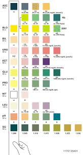 Urine Dipstick Results Chart 78 Methodical Colour Chart For Urine Test Strips