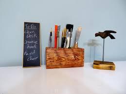 image of diy wooden desk organizer