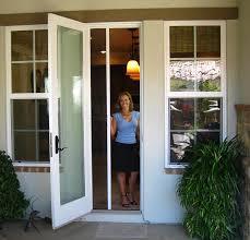 single patio doors. Casper DIY Self-Install Single Retractable Screen Door - Disappearing Screens Patio Doors