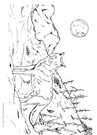 Small Picture Wolf coloring page