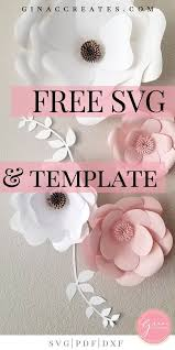 Flower Templates For Paper Flowers Free Svg Printable Paper Flower Template Free Paper