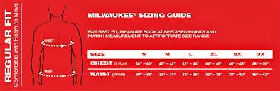 Milwaukee Die Chart Milwaukee M12 Cordess Heated Hoodie Kit Black