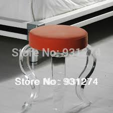 Clear acrylic furniture Outdoor One Lux Clear Acrylic Vanity Stool Legsfour Legged Lucite Perspex Home Stools Acrylic Display Stands One Lux Clear Acrylic Vanity Stool Legsfour Legged Lucite Perspex