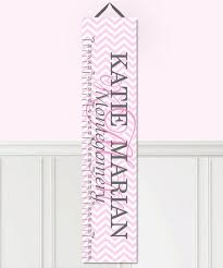 Toad And Lily Growth Chart Toad And Lily Pink Chevron Personalized Growth Chart