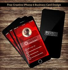 Free Creative Iphone 6 Business Card Design On Behance