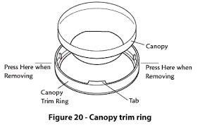 hunter fans how to install your ceiling fan cpo hunter installing the canopy trim ring