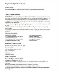 Firefighter Resume Template Interesting 48 Sample Firefighter Resumes Sample Templates