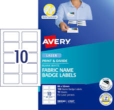 Fabric Print Divide Name Badges Labels 980040 Avery
