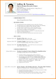 Curriculum Vitae Sample Pdf Philippines Lastcollapse Com