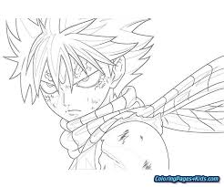 Fairy Tail Coloring Pages Anime Free Printable Coloring Pages