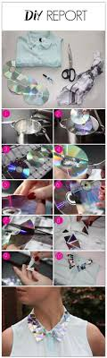 DIY Flashy Collar - old CDs into shiny decorations