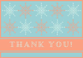 snowflake thank you cards blue snowflake christmas thank you card templates by canva