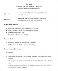 Student Internship Resume Sample How To Make A Resume For College ...