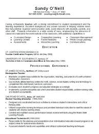 Resumes Examples For Teachers Teachers Resumes Samples And