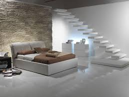 basement ideas. Basement Bedroom Ideas With Modern Decoration Using Porcelain Flooring And Minimalist White Staircase Combined U