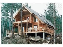 a frame house plans. Brilliant House AFrame House Plan Rear 010H0004 Intended A Frame Plans A